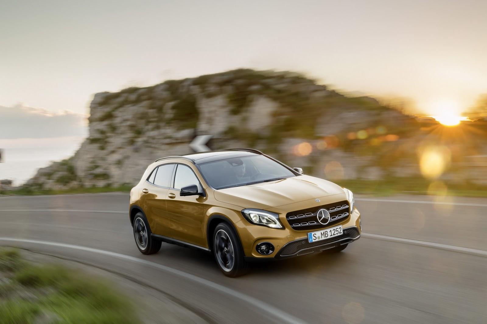 Mercedes GLA facelift and GLA 45 AMG facelift 2017 (27)