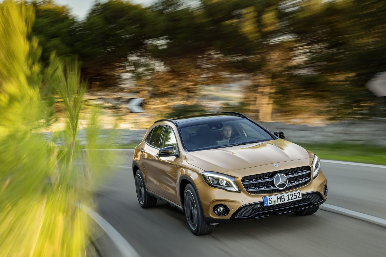 Mercedes GLA facelift and GLA 45 AMG facelift 2017 (28)
