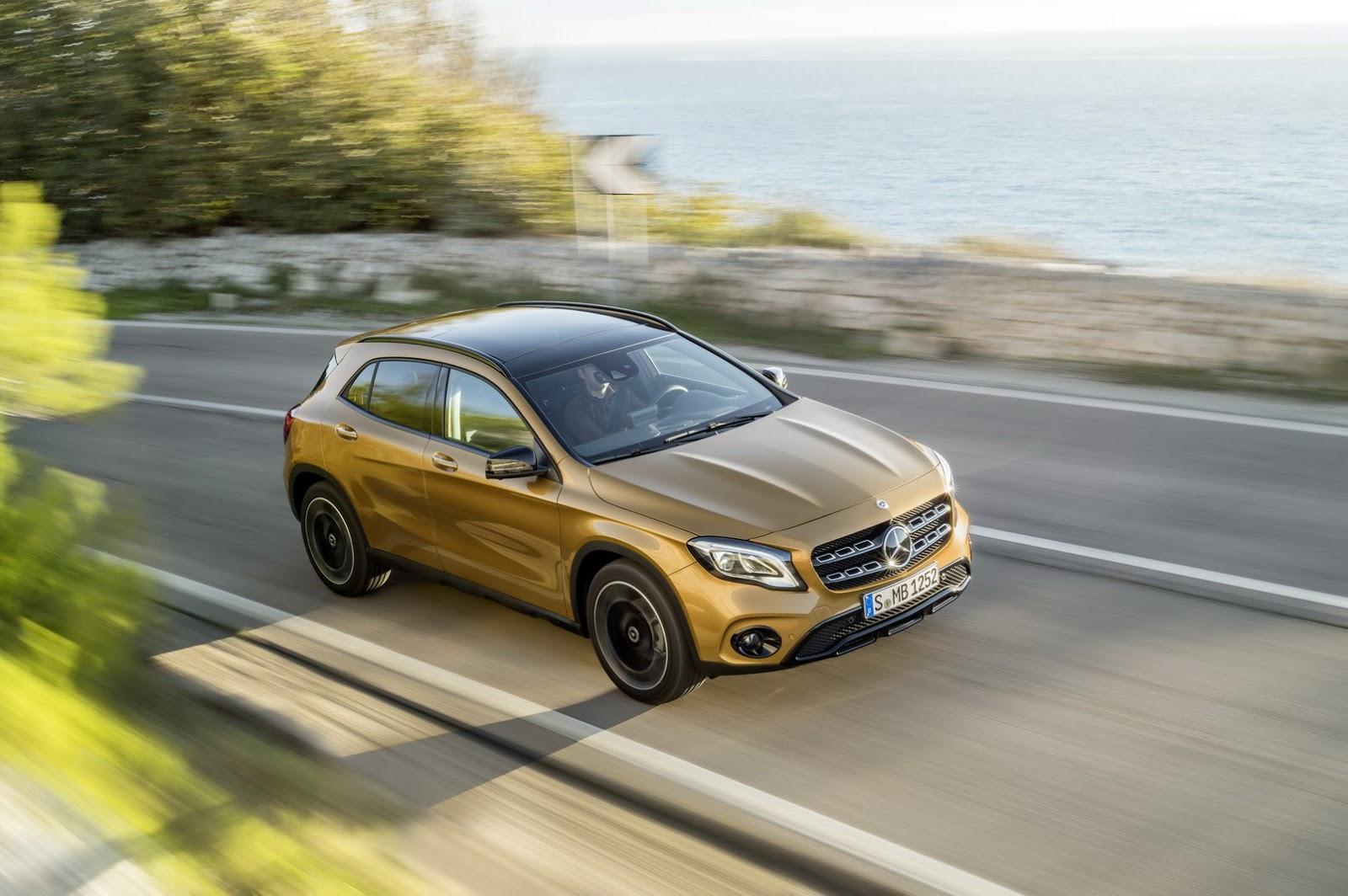 Mercedes GLA facelift and GLA 45 AMG facelift 2017 (29)