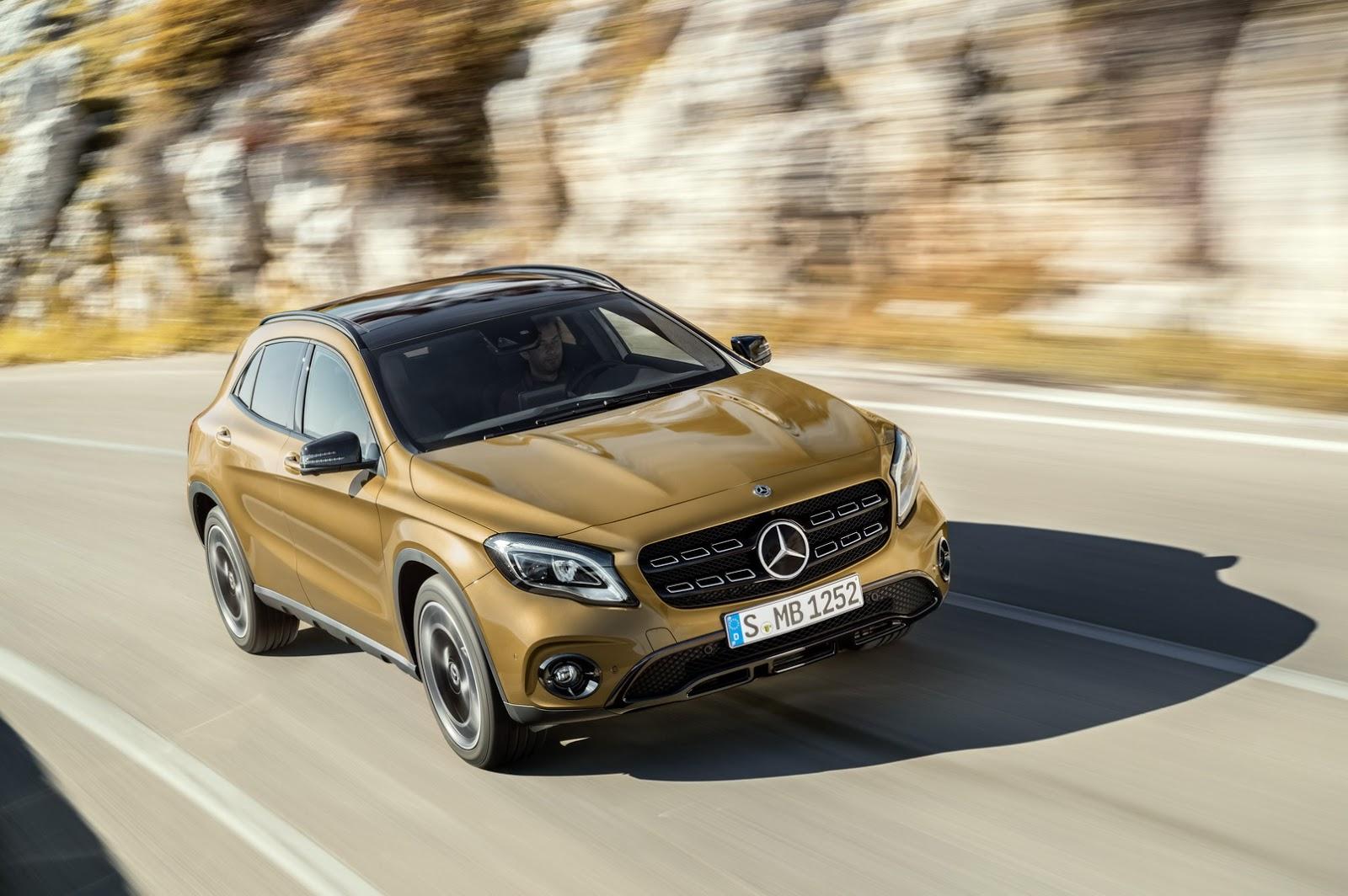 Mercedes GLA facelift and GLA 45 AMG facelift 2017 (32)