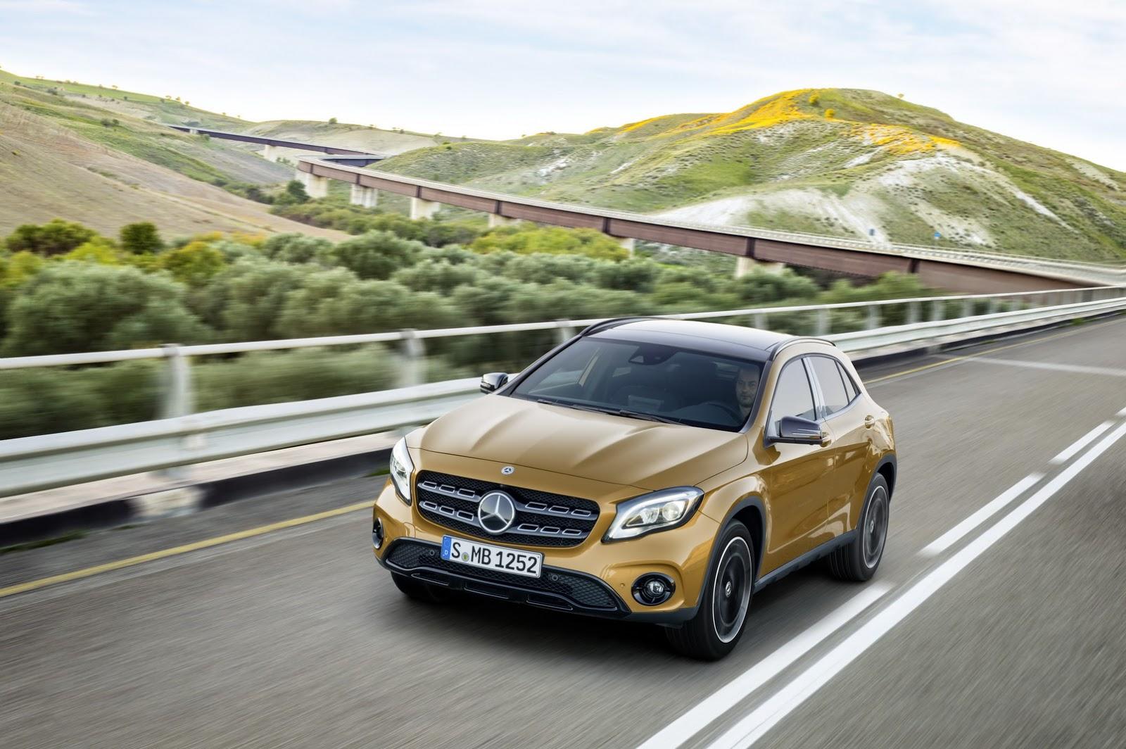 Mercedes GLA facelift and GLA 45 AMG facelift 2017 (34)