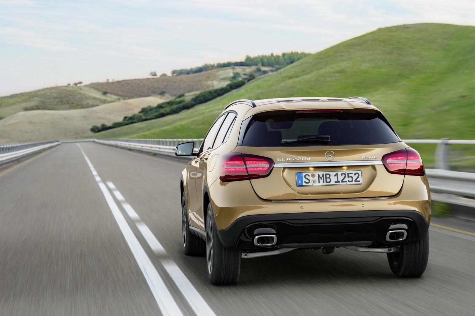 Mercedes GLA facelift and GLA 45 AMG facelift 2017 (36)