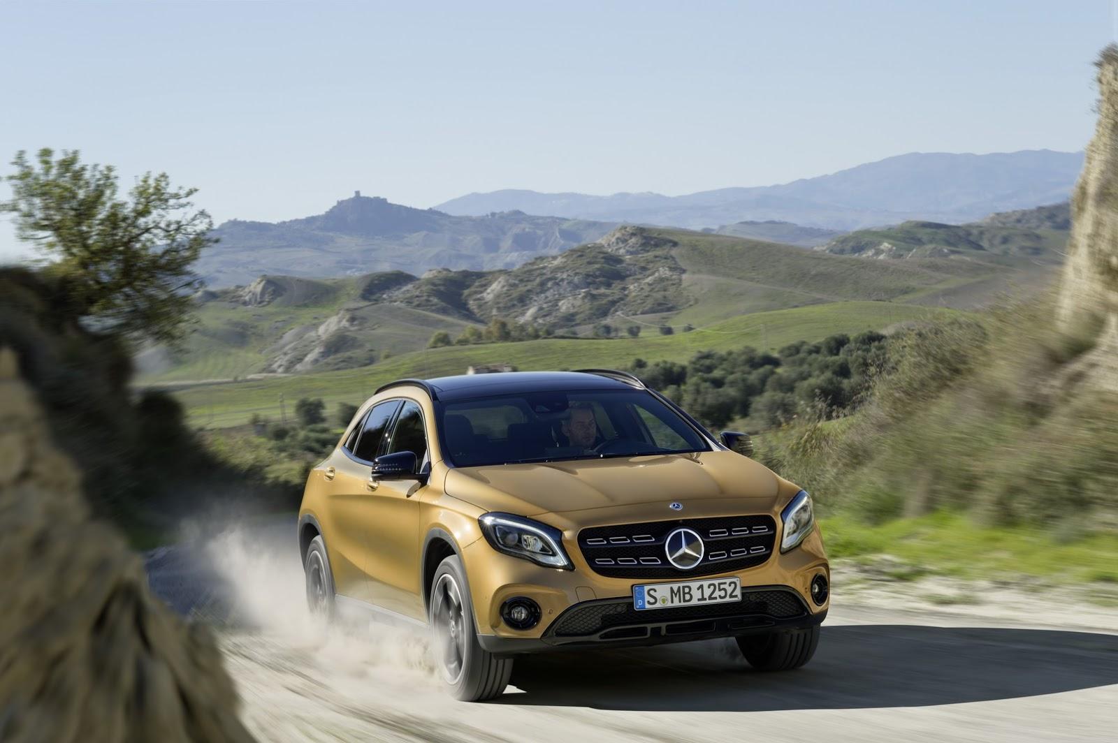 Mercedes GLA facelift and GLA 45 AMG facelift 2017 (38)