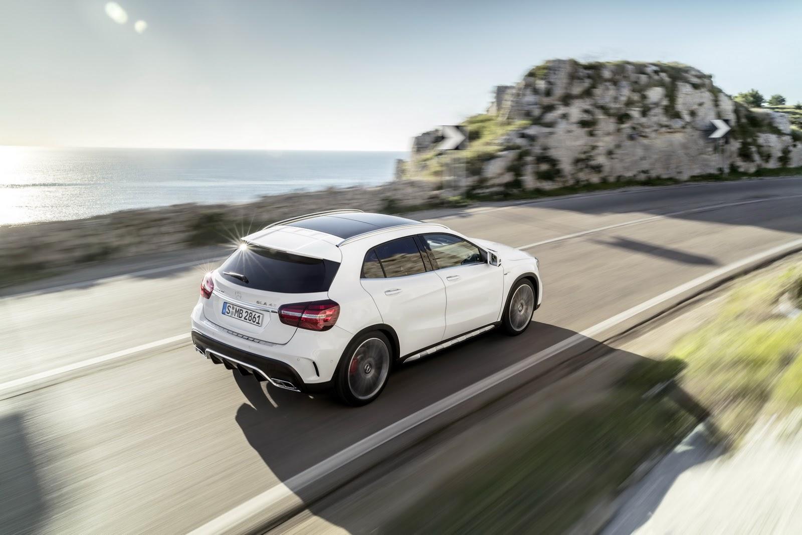 Mercedes GLA facelift and GLA 45 AMG facelift 2017 (4)