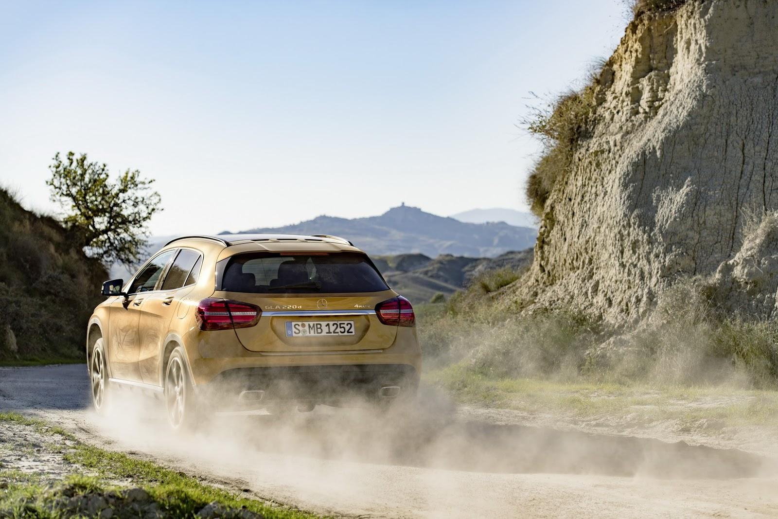 Mercedes GLA facelift and GLA 45 AMG facelift 2017 (40)