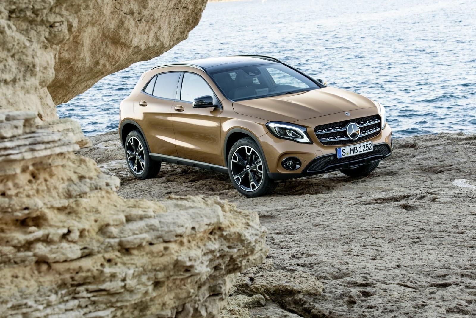 Mercedes GLA facelift and GLA 45 AMG facelift 2017 (41)