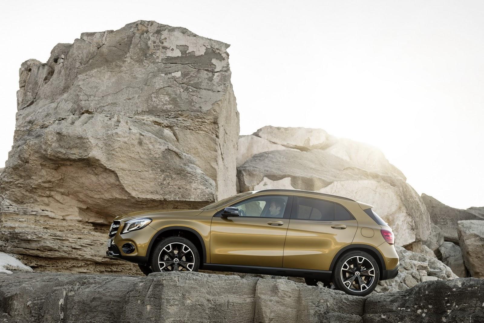 Mercedes GLA facelift and GLA 45 AMG facelift 2017 (43)