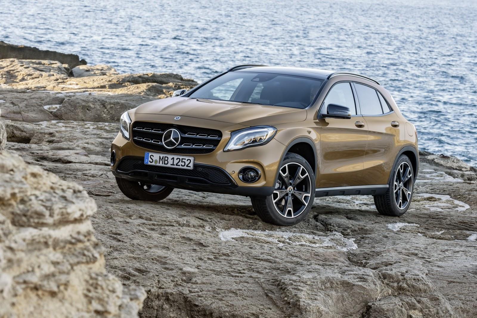 Mercedes GLA facelift and GLA 45 AMG facelift 2017 (44)