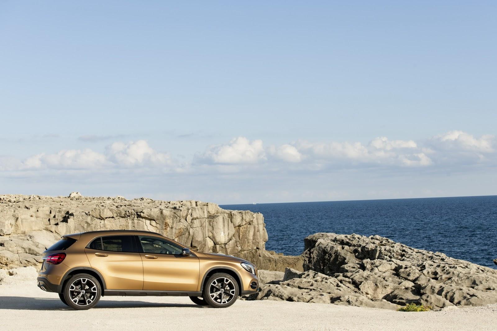 Mercedes GLA facelift and GLA 45 AMG facelift 2017 (45)
