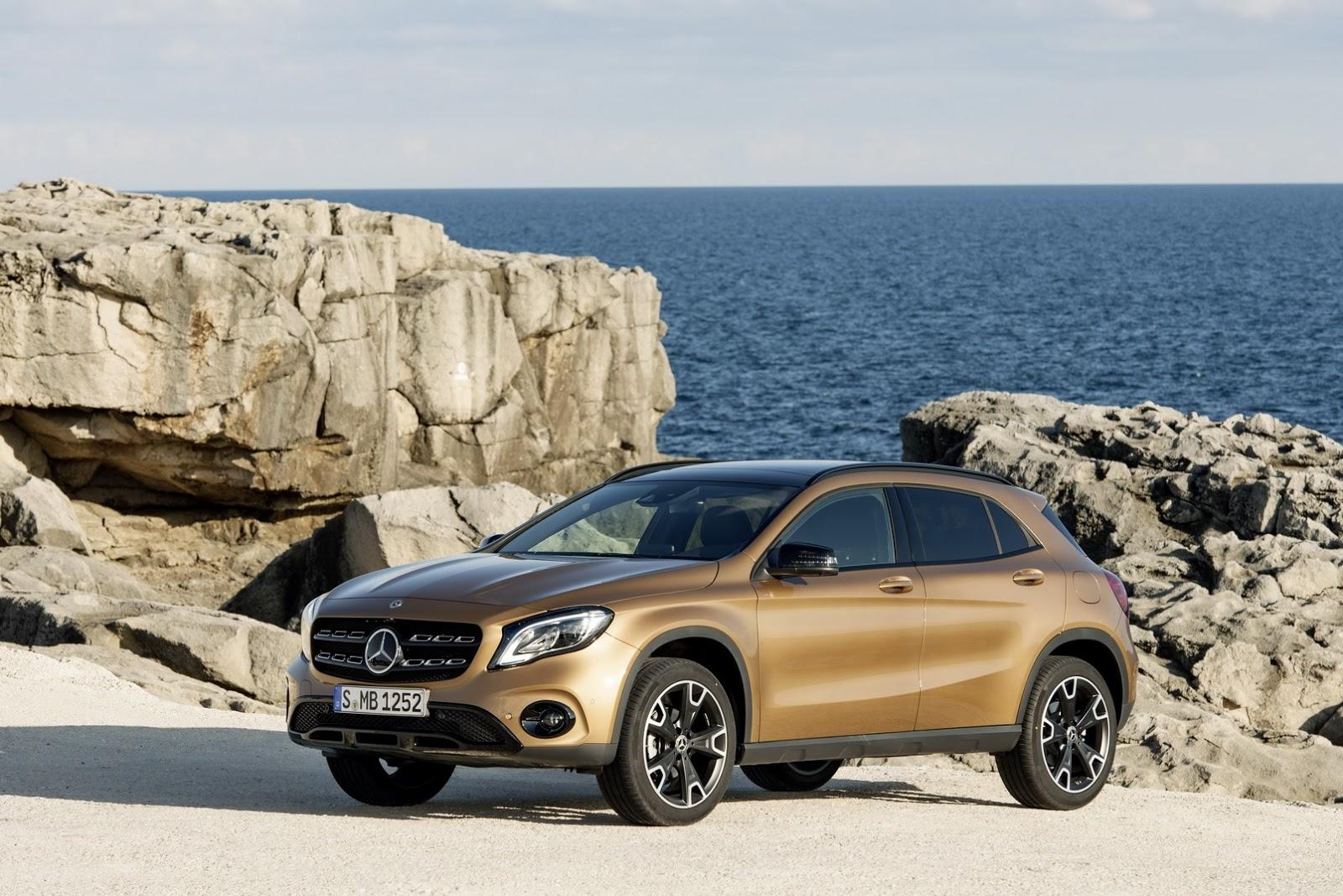 Mercedes GLA facelift and GLA 45 AMG facelift 2017 (46)