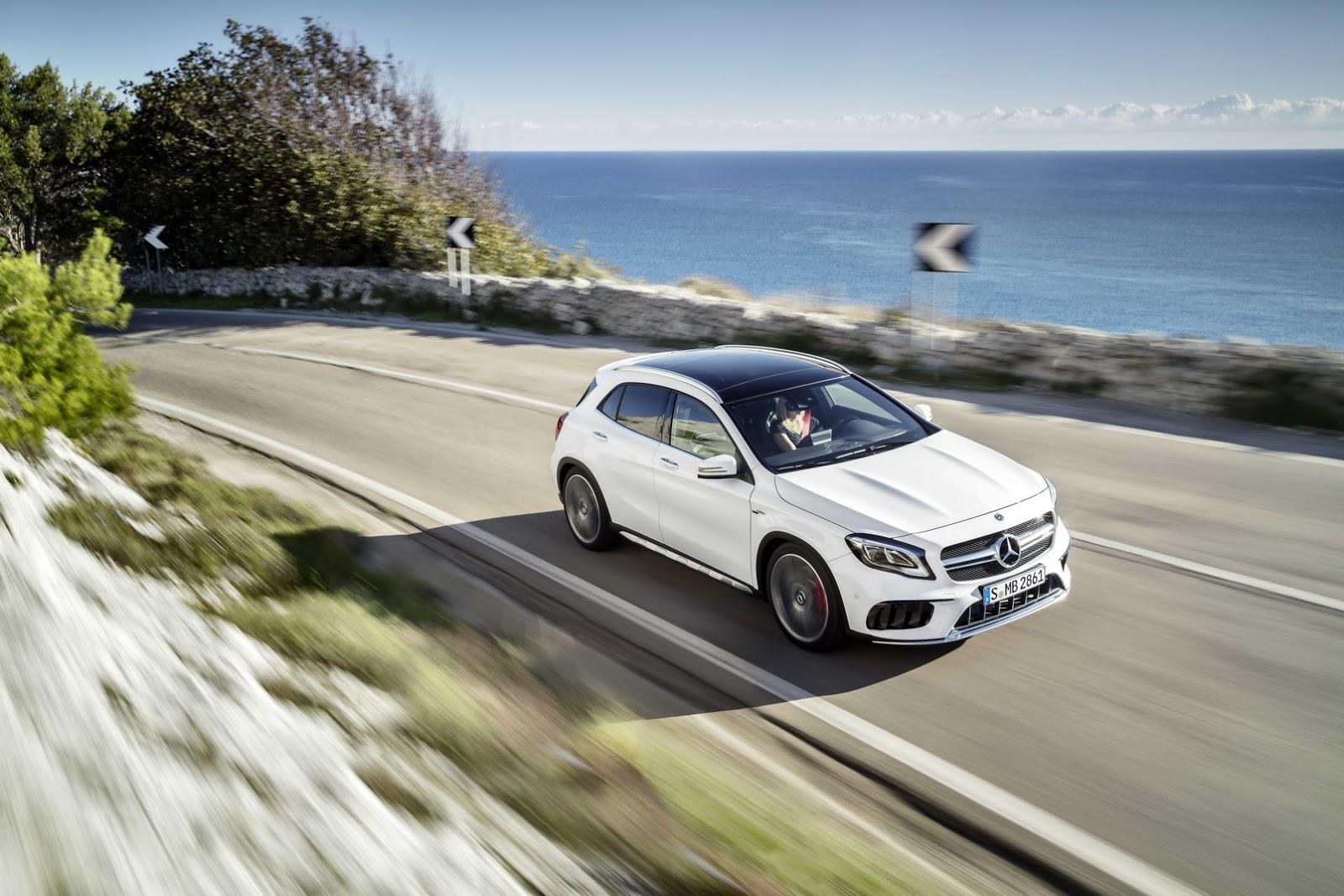 Mercedes GLA facelift and GLA 45 AMG facelift 2017 (5)