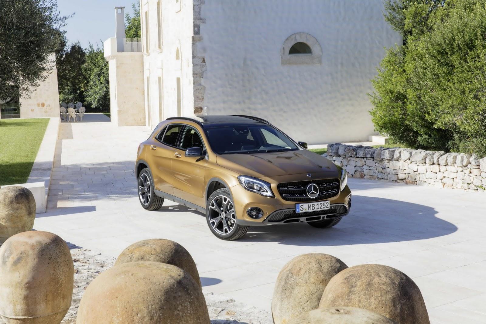 Mercedes GLA facelift and GLA 45 AMG facelift 2017 (51)