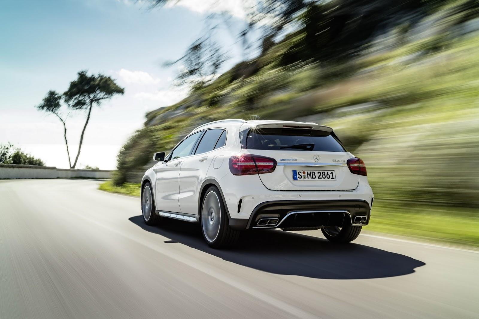 Mercedes GLA facelift and GLA 45 AMG facelift 2017 (6)
