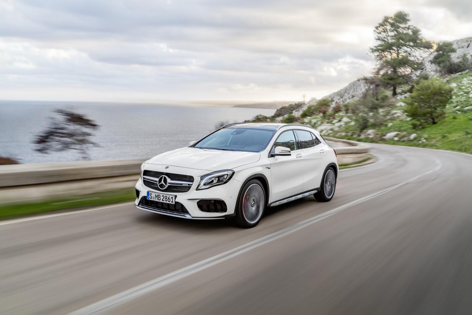 Mercedes GLA facelift and GLA 45 AMG facelift 2017 (8)