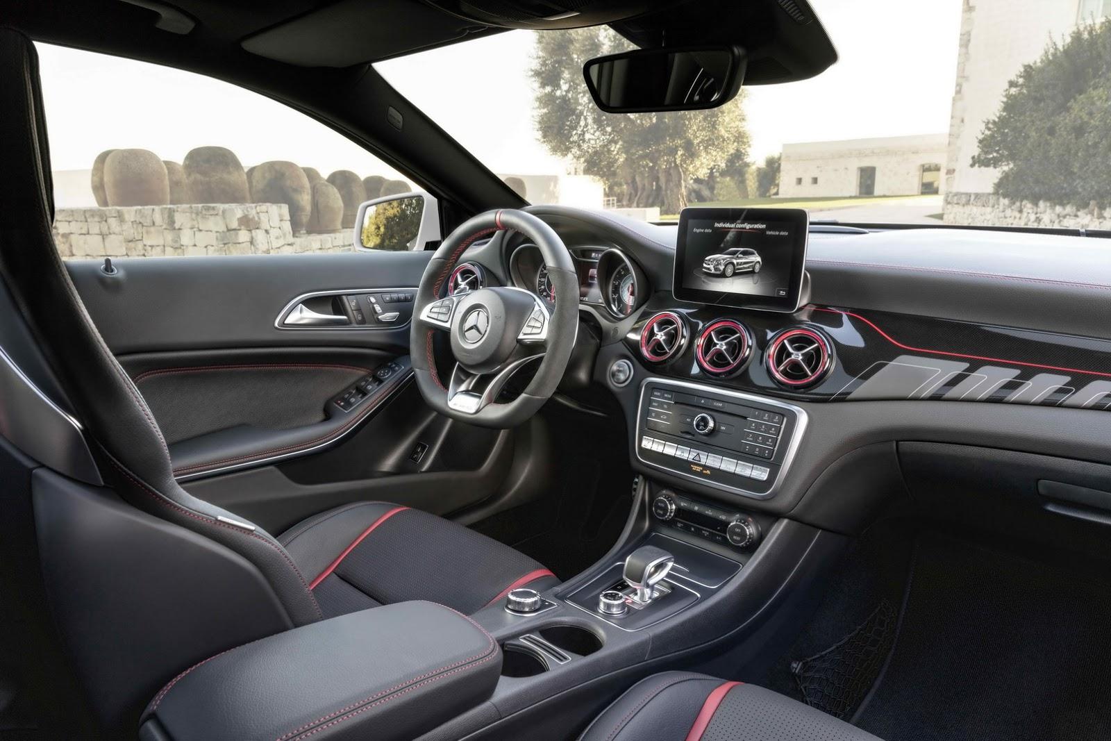 Mercedes GLA facelift and GLA 45 AMG facelift 2017 (84)