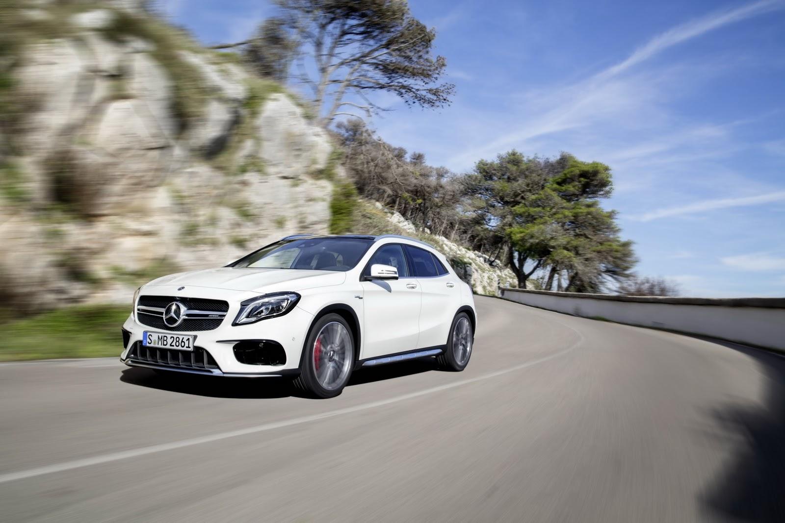 Mercedes GLA facelift and GLA 45 AMG facelift 2017 (9)