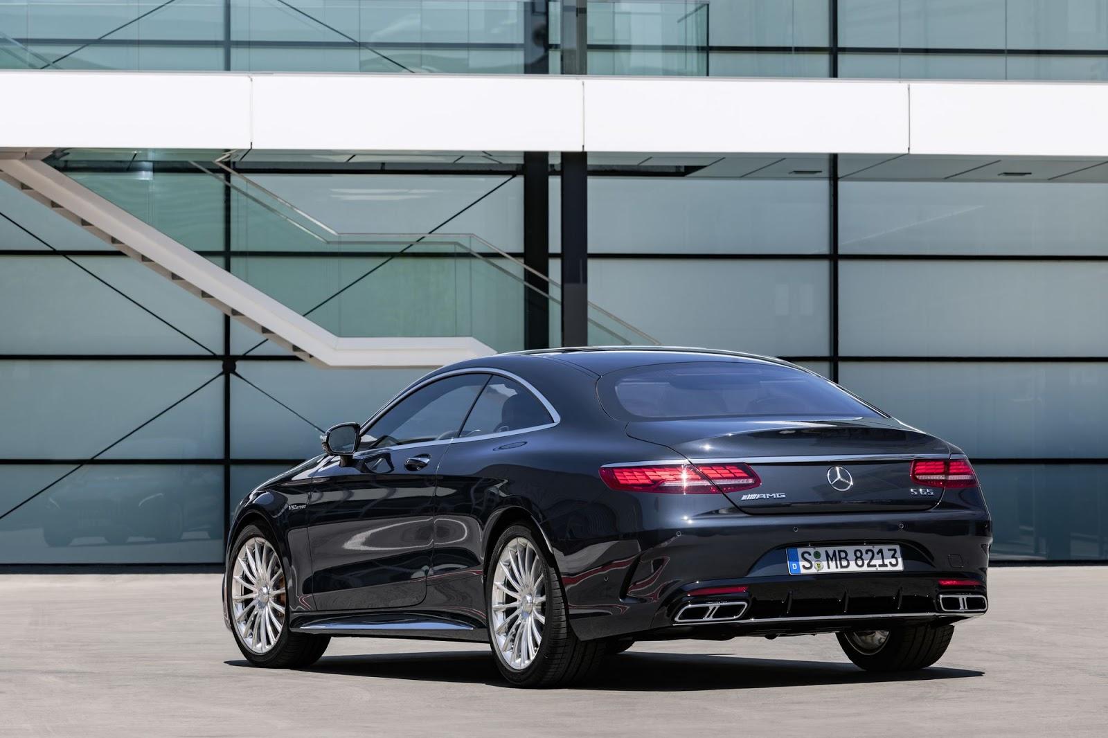 Mercedes-AMG S 65 Coupé, 2017. Exterieur: anthrazitblau metallic;Kraftstoffverbrauch kombiniert: 11,9 l/100 km; CO2-Emissionen kombiniert: 279 g/km*Mercedes-AMG S 65 Coupé, 2017. Exterior: anthracite blue metallic;Fuel consumption combined: 11.9 l/100 km; CO2 emissions combined: 279 g/km*