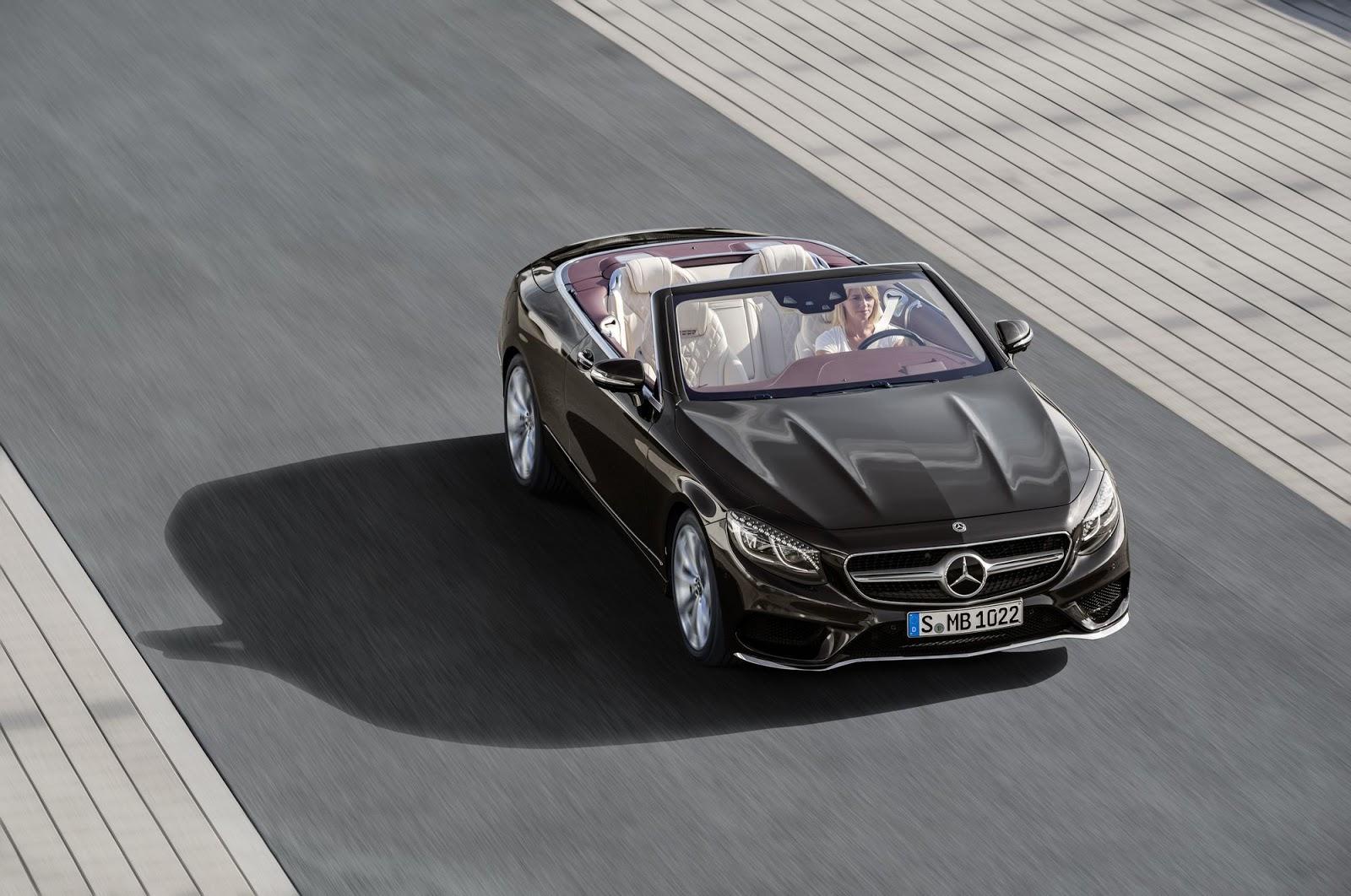 Mercedes-Benz S-Klasse Cabriolet; A 217; Exterieur: designo mokkaschwarz; Interieur: designo Leder porzellan/tizianrot Mercedes-Benz S-Class Cabriolet; A 217; Exterior: designo mocha black; Interior: designo leather porcelain/tizian red