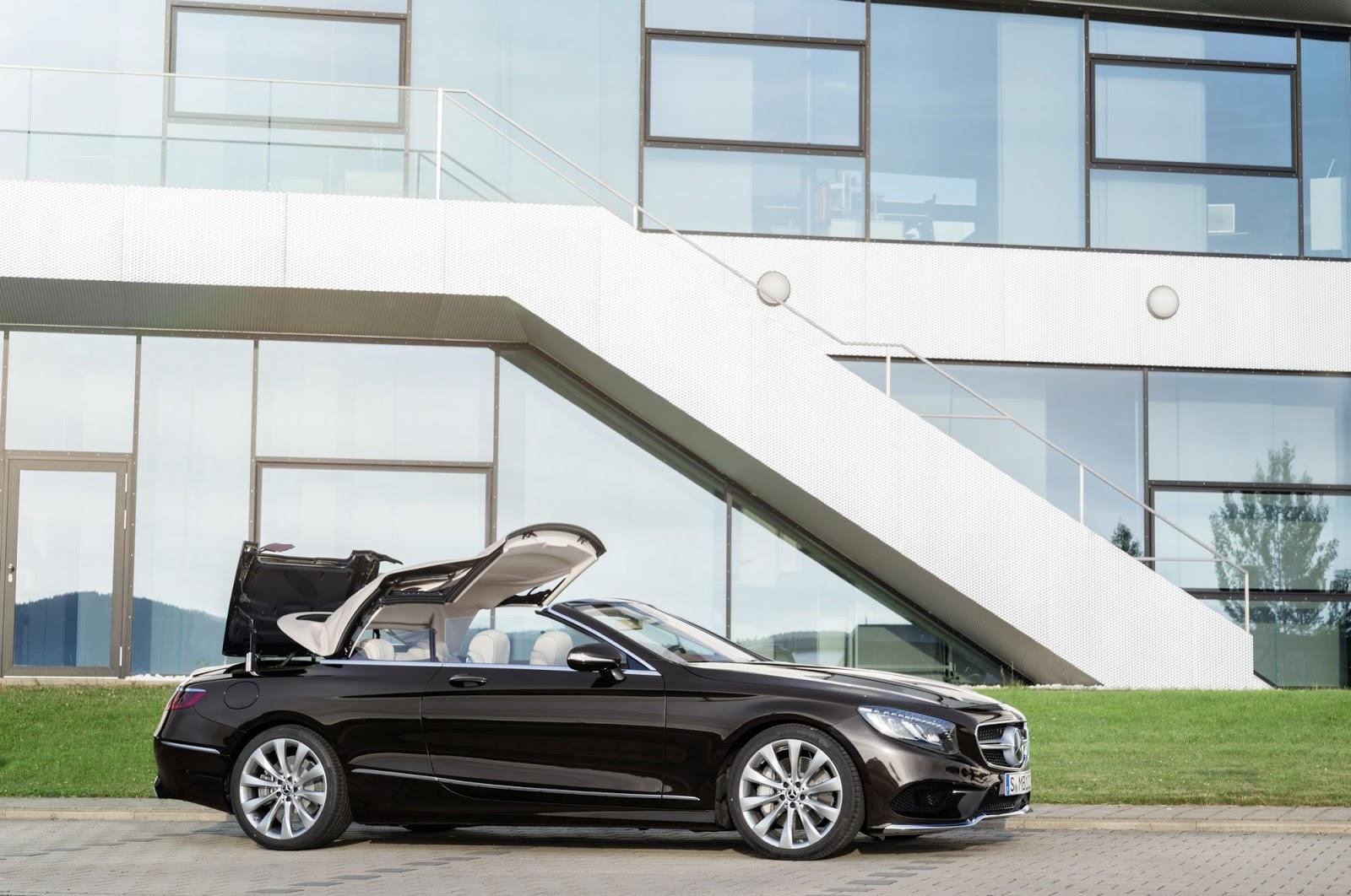 Mercedes-Benz S-Klasse Cabriolet; A 217; Exterieur: designo mokkaschwarz; Interieur: designo Leder porzellan/tizianrot Mercedes-Benz S-Class Cabriolet; A 217;Exterior: designo mocha black; Interior: designo leather porcelain/tizian red