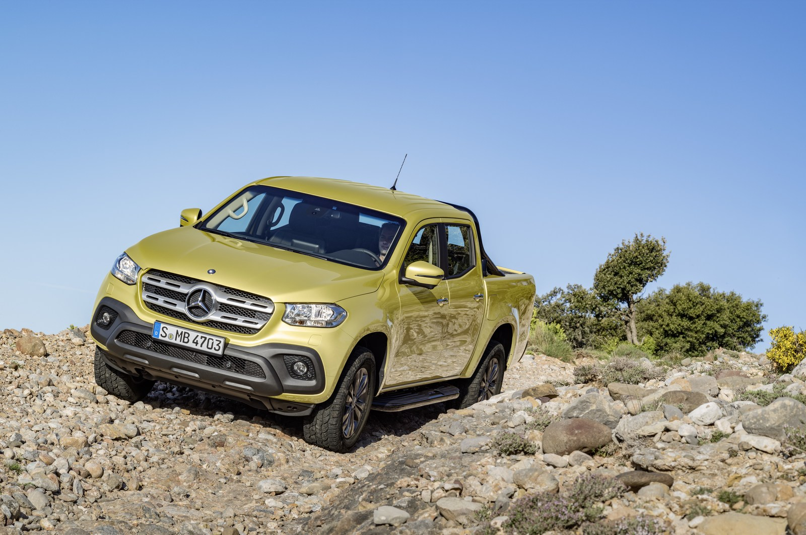 Mercedes-Benz X-Klasse – Exterieur, Limonitgelb metallic, Ausstattungslinie PROGRESSIVE 