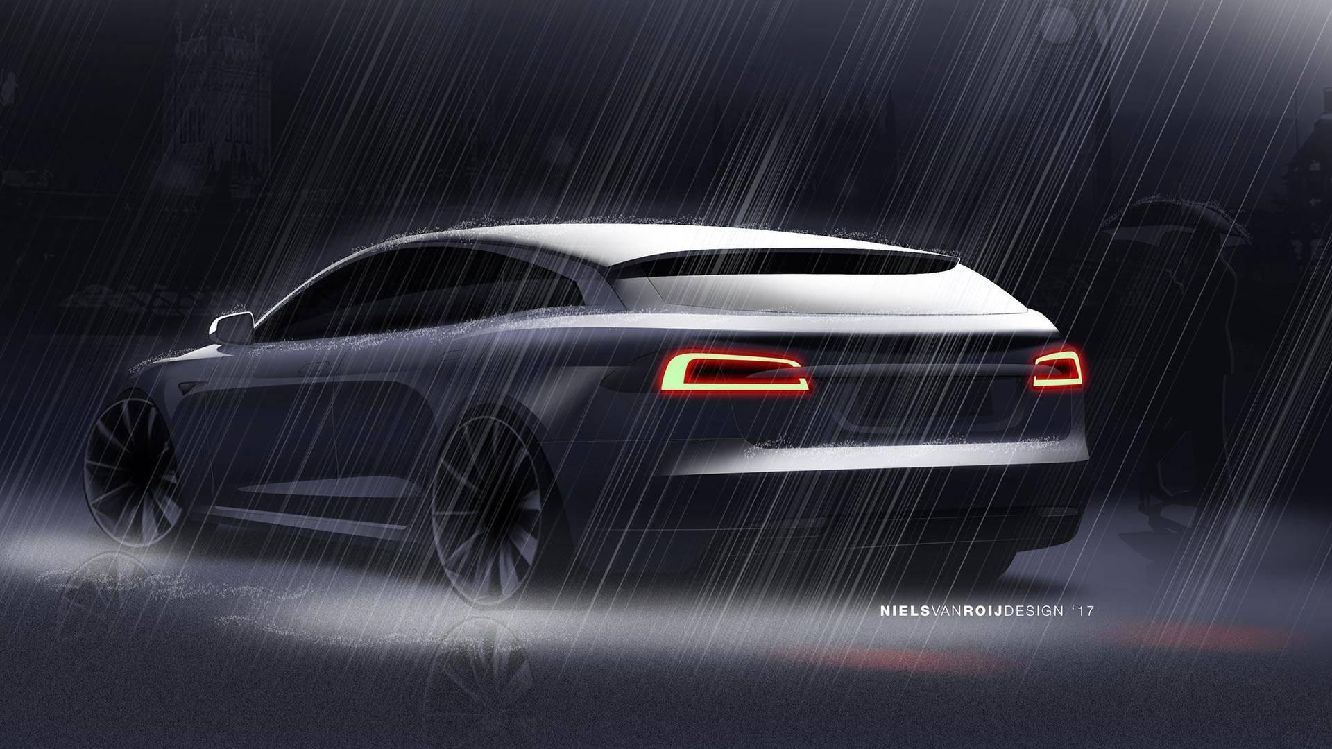 Niels van Roij Design Tesla Model S Shooting Brake (1)