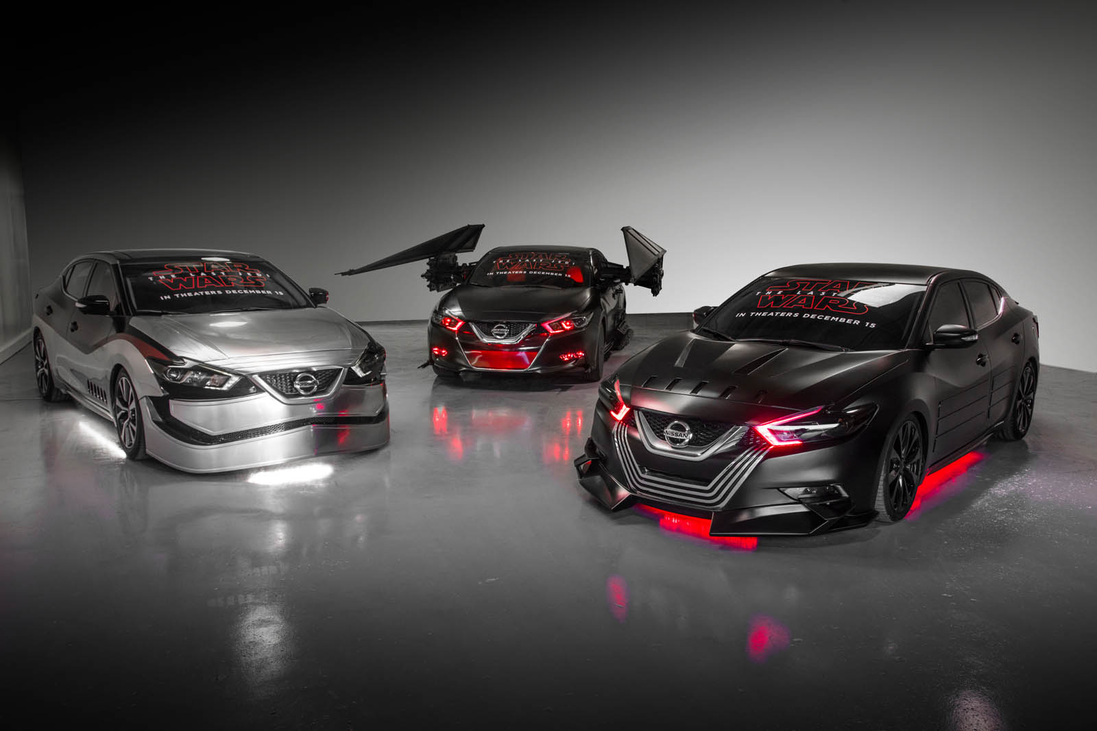 Nissan unveiled six Star Wars-themed show vehicles at the Los Angeles Auto Show in celebration of the brand's ongoing collaboration with Lucasfilm for Star Wars: The Last Jedi..
