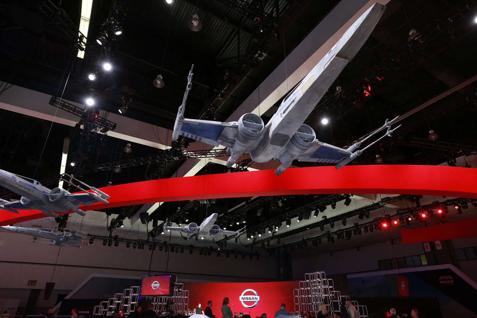 The Nissan booth at the 2017 Los Angeles Auto Show will feature an all-new crossover utility vehicle and a fully immersive Star Wars: The Last Jedi-themed display.