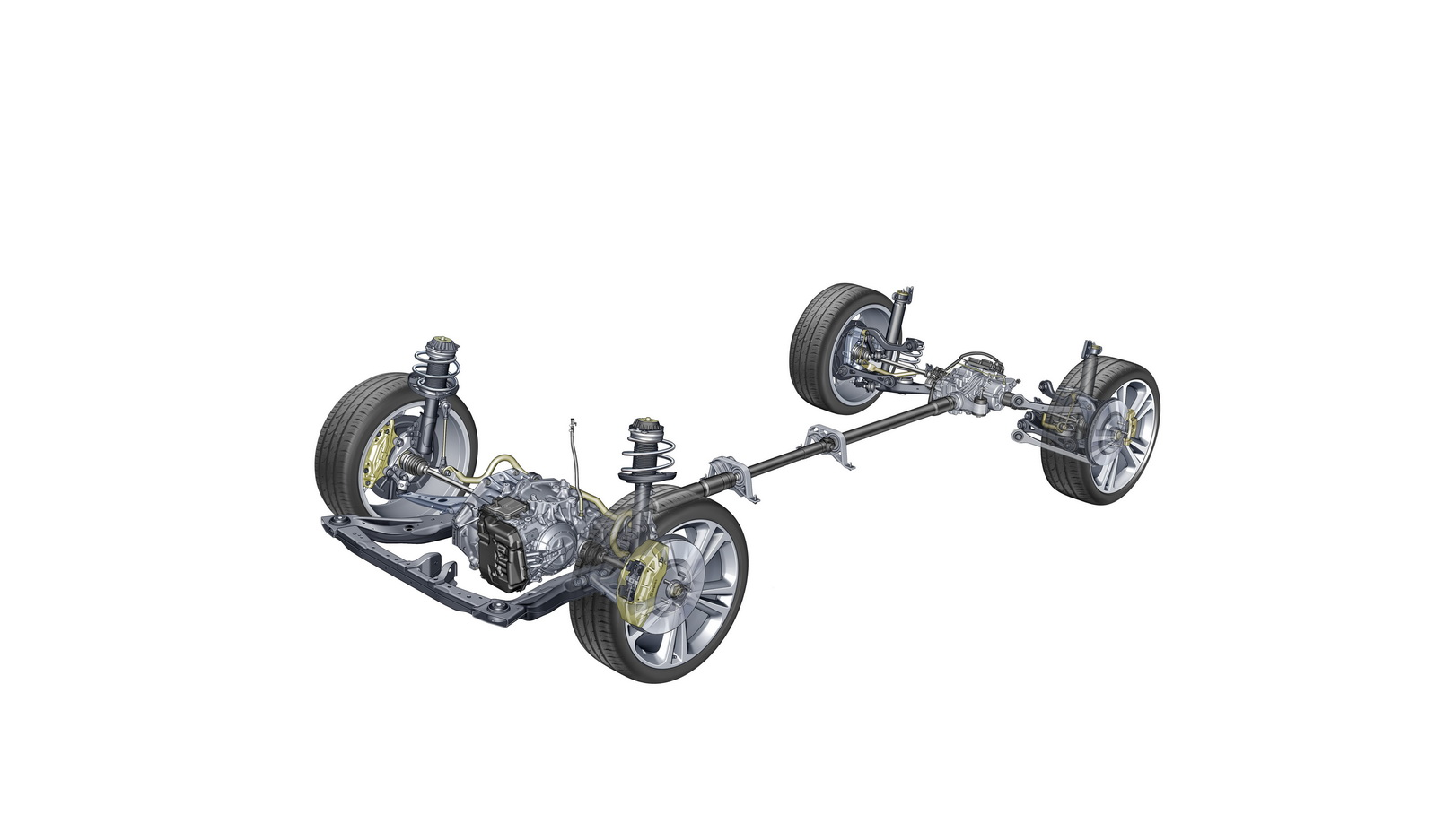 The Insignia's all-wheel drive system can apply torque to one or both of the rear wheels independently, enabling torque vectoring capability across the car's full performance range.