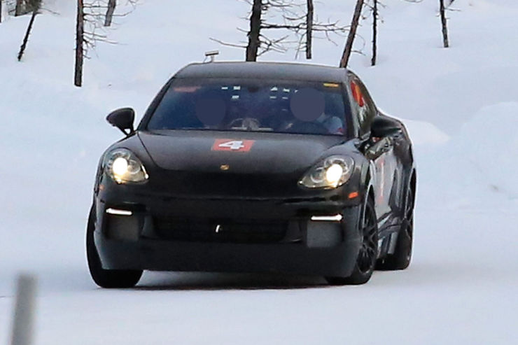 Porsche Mission E Spy Photos (1)