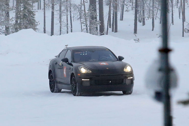 Porsche Mission E Spy Photos (8)