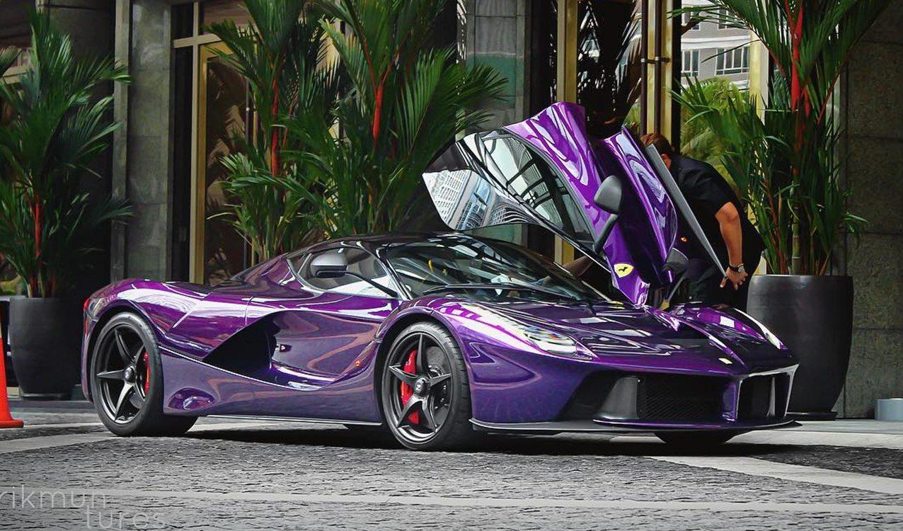 Purple LaFerrari (1)