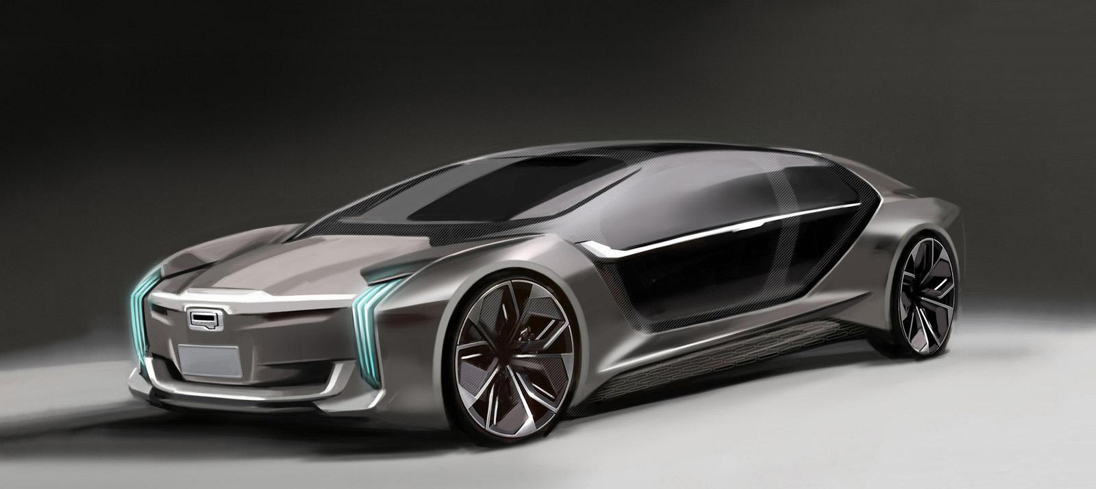 Qoros Model K-EV Concept will be launched at 2017 Shanghai Auto Show (PRNewsfoto/Qoros Auto)