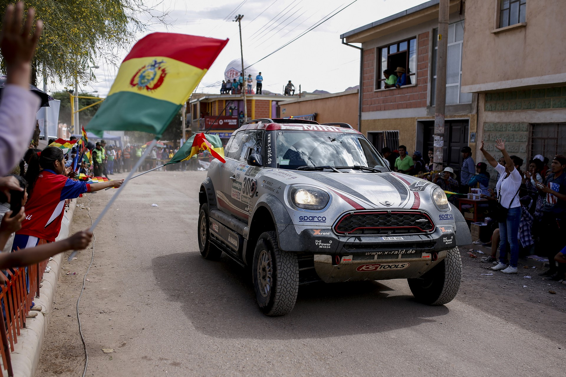 308 TERRANOVA ORLANDO (arg) SCHULZ ANDREAS (deu) MINI X-RAID MINI JOHN COOPER WORKS RALLY TEAM  action during the Dakar 2017 Paraguay Bolivia Argentina , Etape 4 - Stage 4,  San Salvador de jujuy - Tupiza ,  January 5 - Photo Benjamin Cremel / DPPI