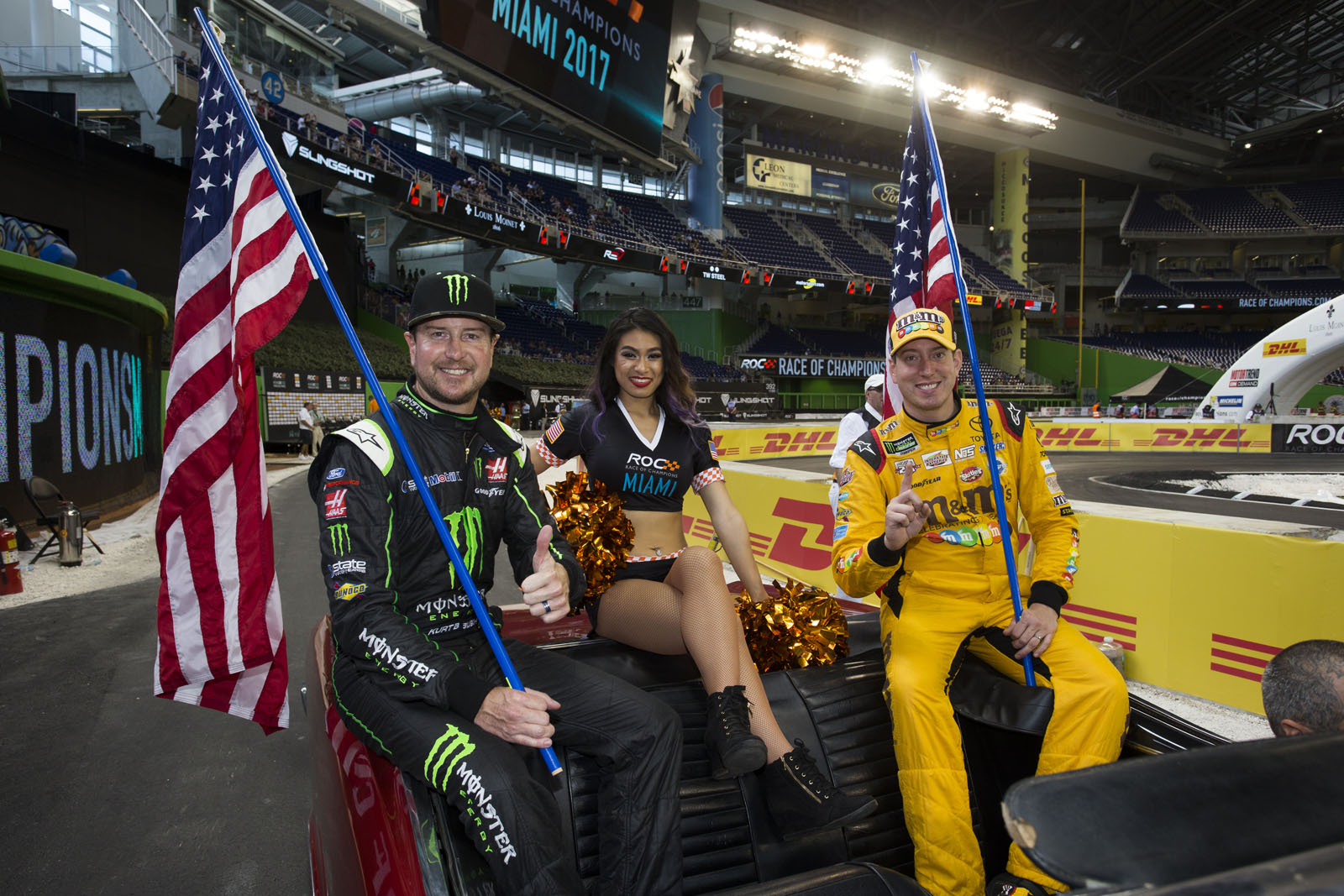 Team USA NASCAR Kurt Busch (USA) and Kyle Busch (USA) during the ROC Nations Cup on Sunday 22 January 2017 at Marlins Park, Miami, Florida, USA