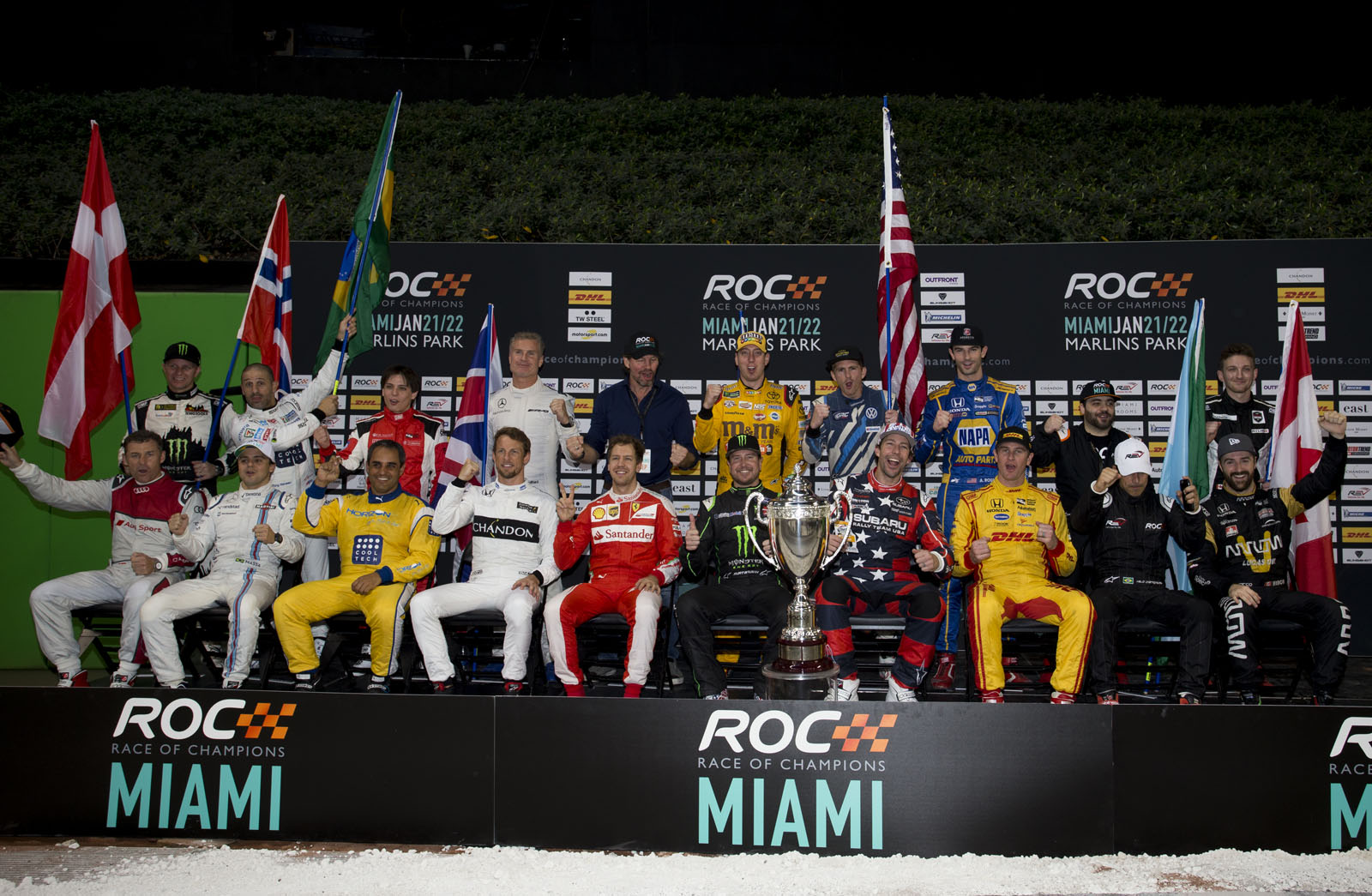 The drivers family photo during the ROC Nations Cup on Sunday 22 January 2017 at Marlins Park, Miami, Florida, USA