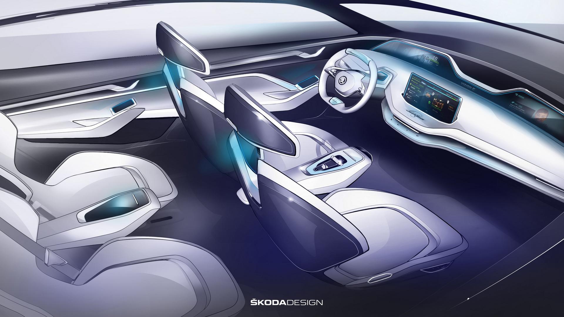 Skoda Vision E Concept sketches (2)