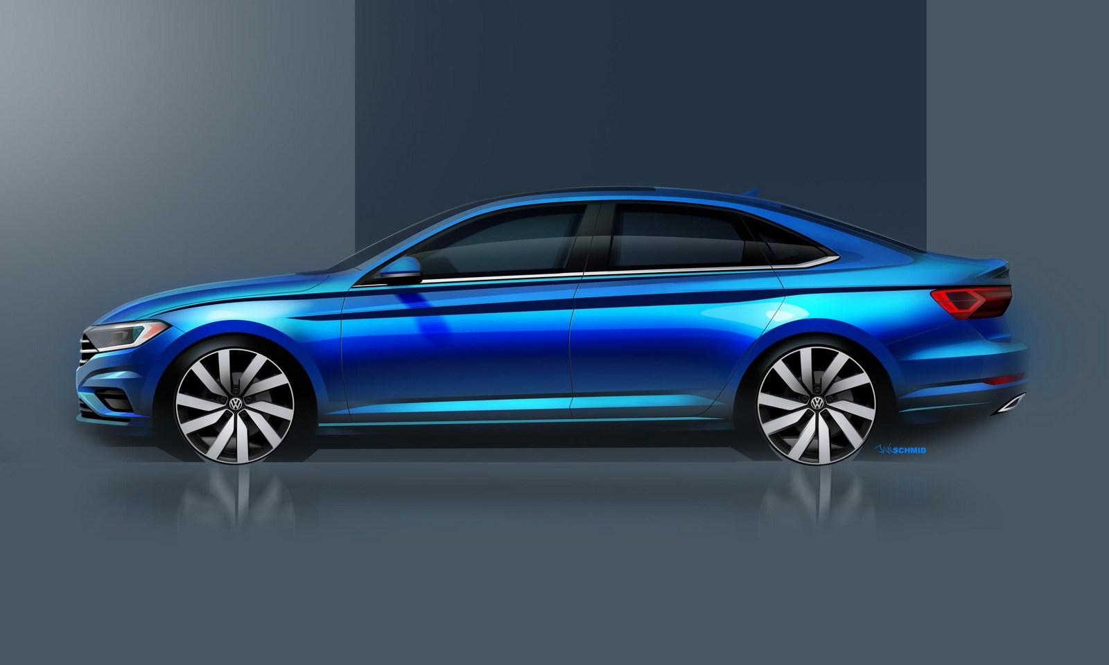 Volkswagen Jetta 2018 schetses (3)