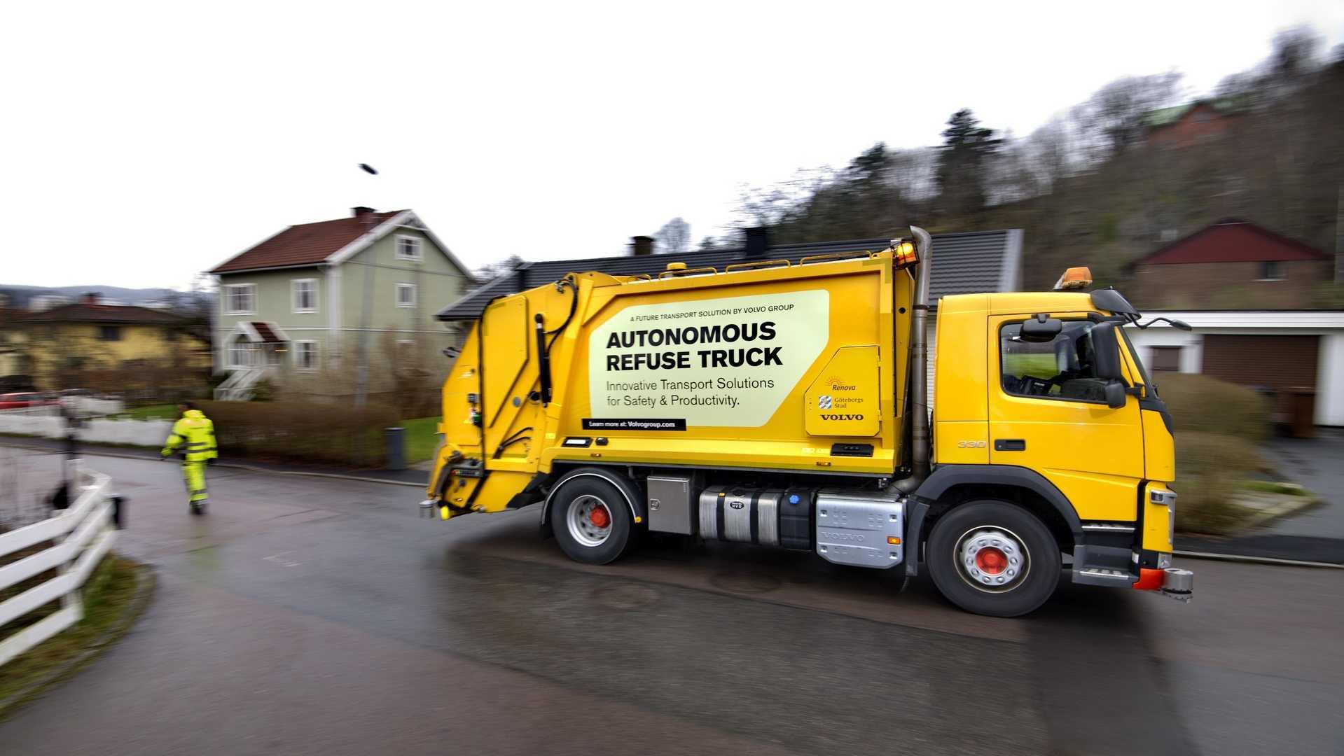 Volvo autonomous garbage truck (4)