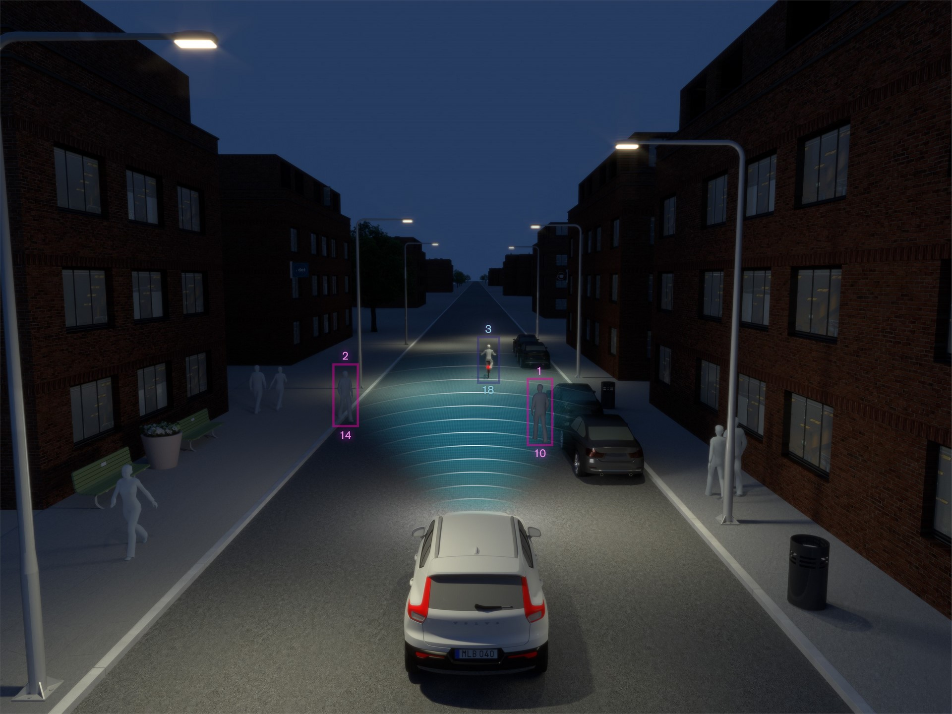 New Volvo XC40 - City Safety Darkness