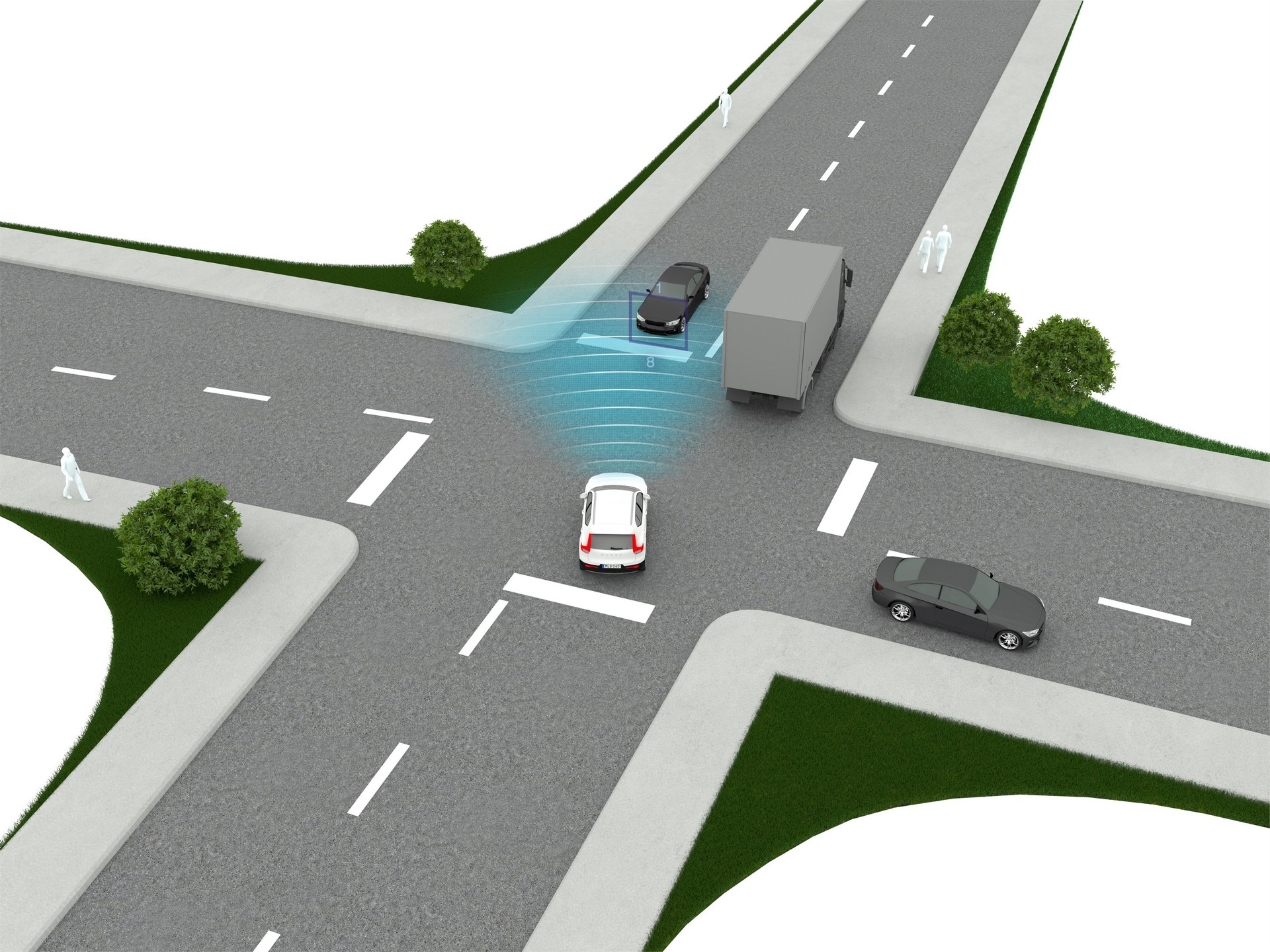 New Volvo XC40 - City Safety Intersection