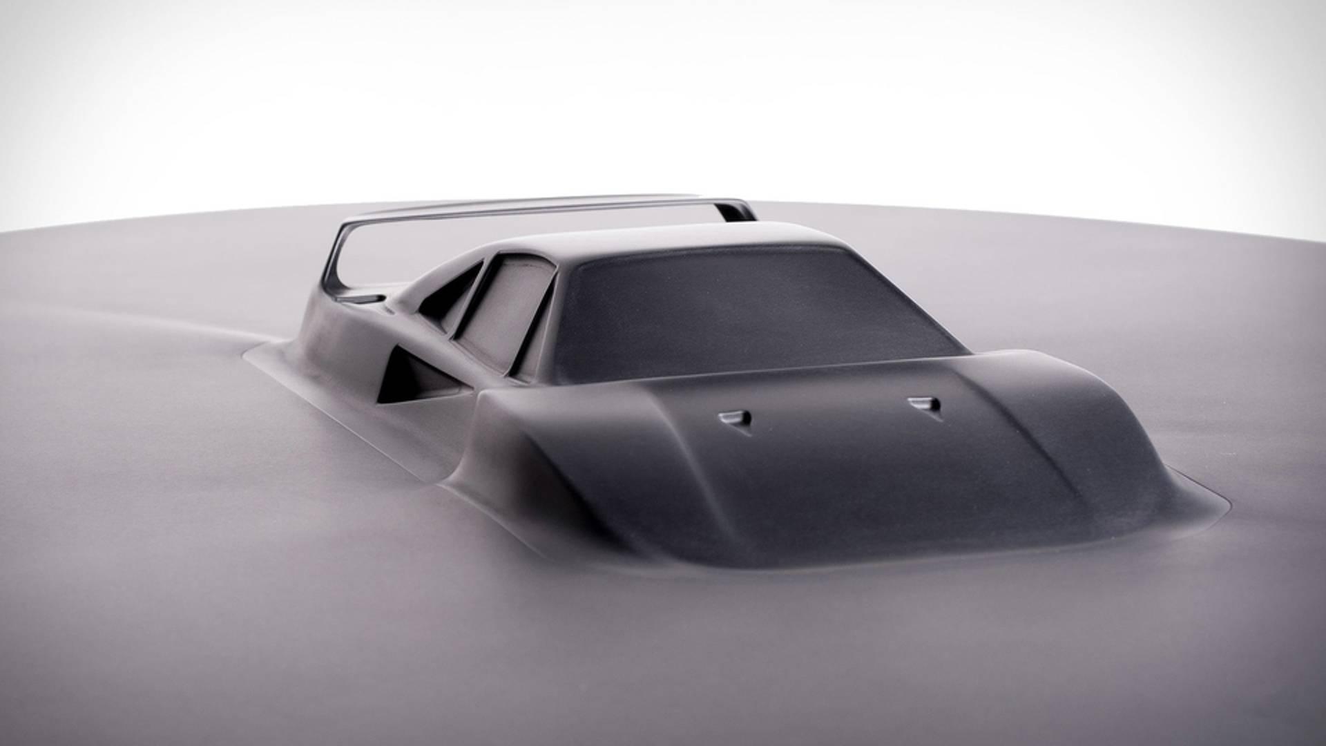 Aluminum coffee table Ferrari F40 (4)