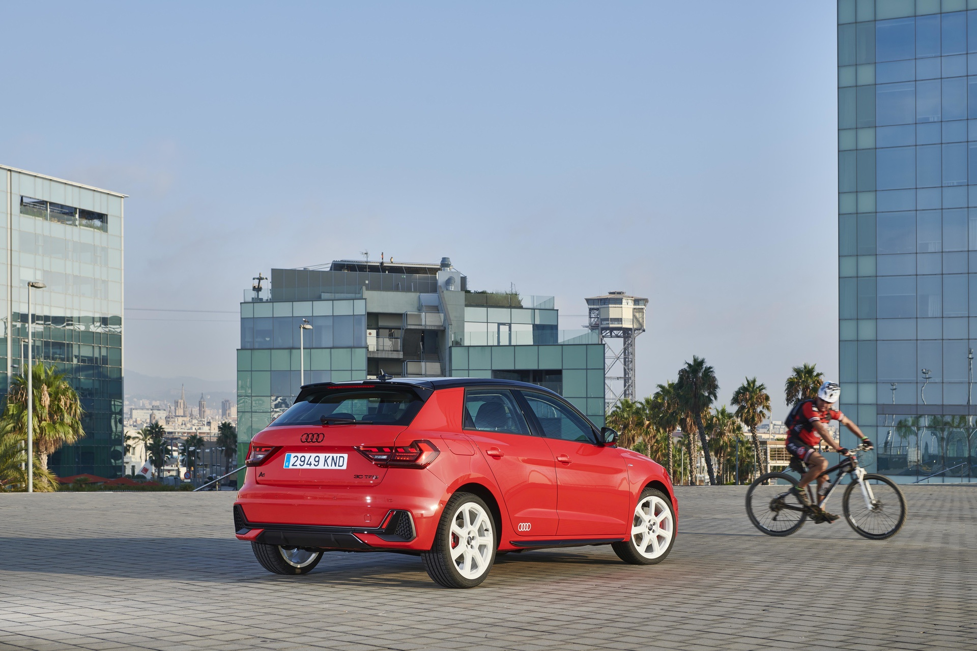 Audi A1 Sportback in Barcelona, Port Vell