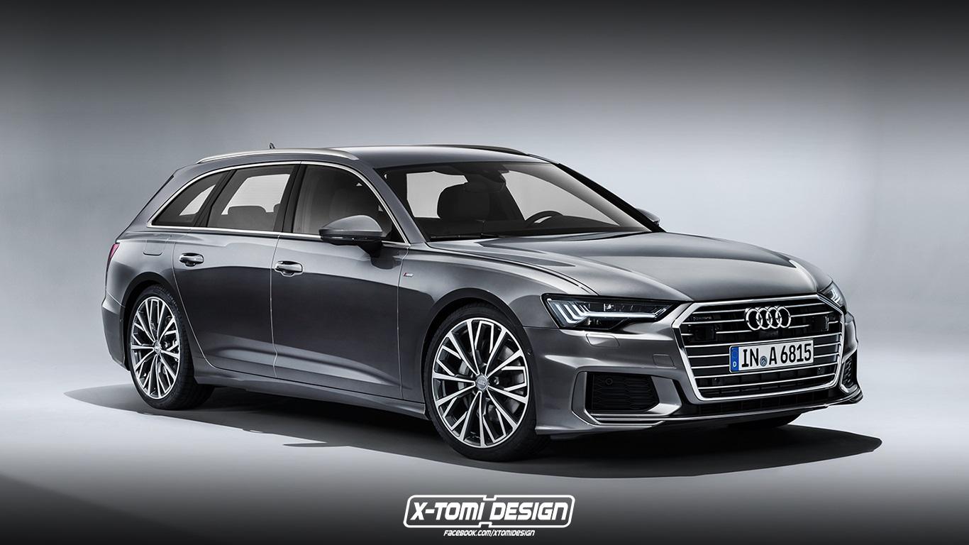 Audi A6 Avant, A6 Allroad RS6 Avant Renderings (8)