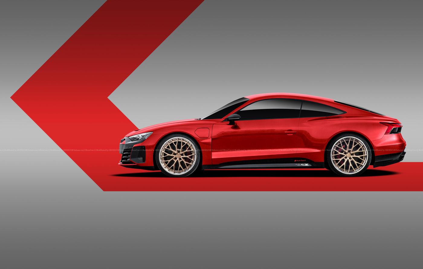 Audi E-Tron GT Spyder, E-Tron GT Wagon, E-Tron GT Coupe Renderings (3)