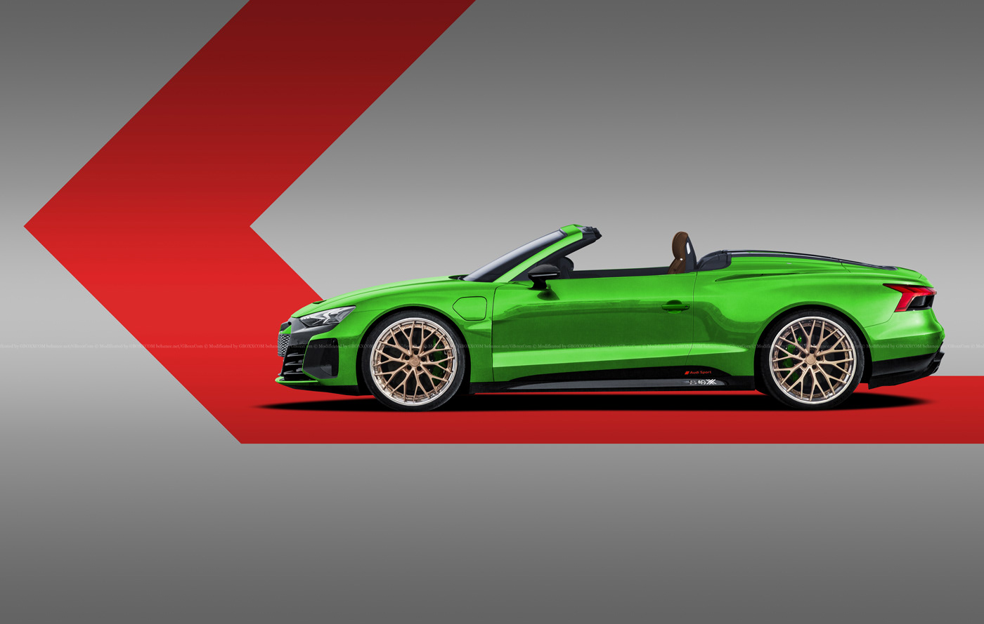 Audi E-Tron GT Spyder, E-Tron GT Wagon, E-Tron GT Coupe Renderings (4)