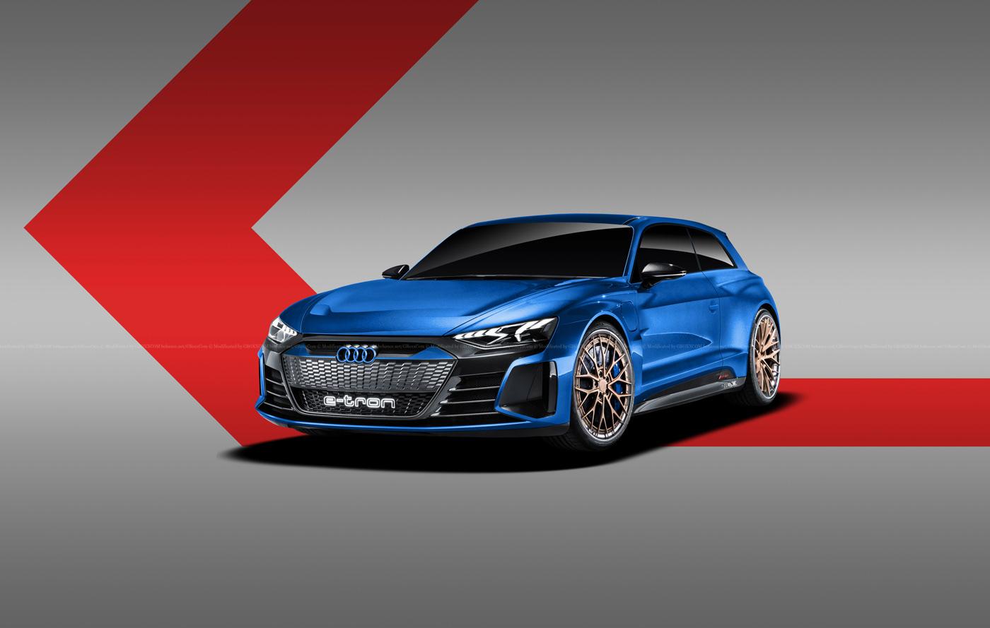 Audi E-Tron GT Spyder, E-Tron GT Wagon, E-Tron GT Coupe Renderings (7)
