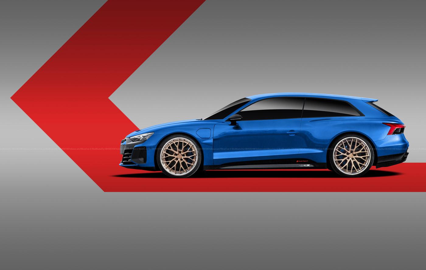 Audi E-Tron GT Spyder, E-Tron GT Wagon, E-Tron GT Coupe Renderings (8)