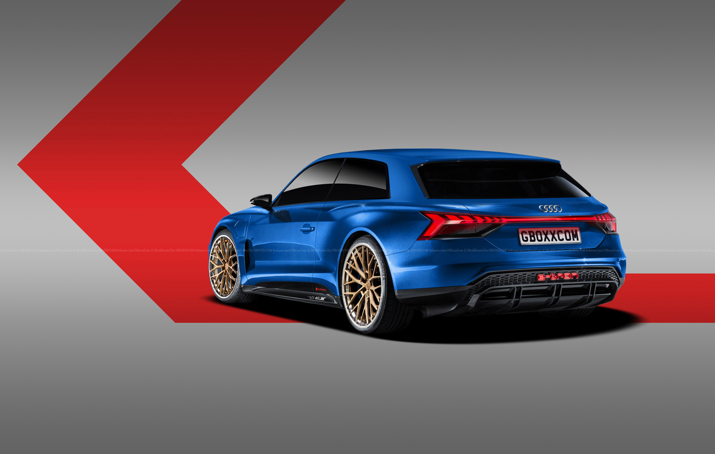 Audi E-Tron GT Spyder, E-Tron GT Wagon, E-Tron GT Coupe Renderings (9)