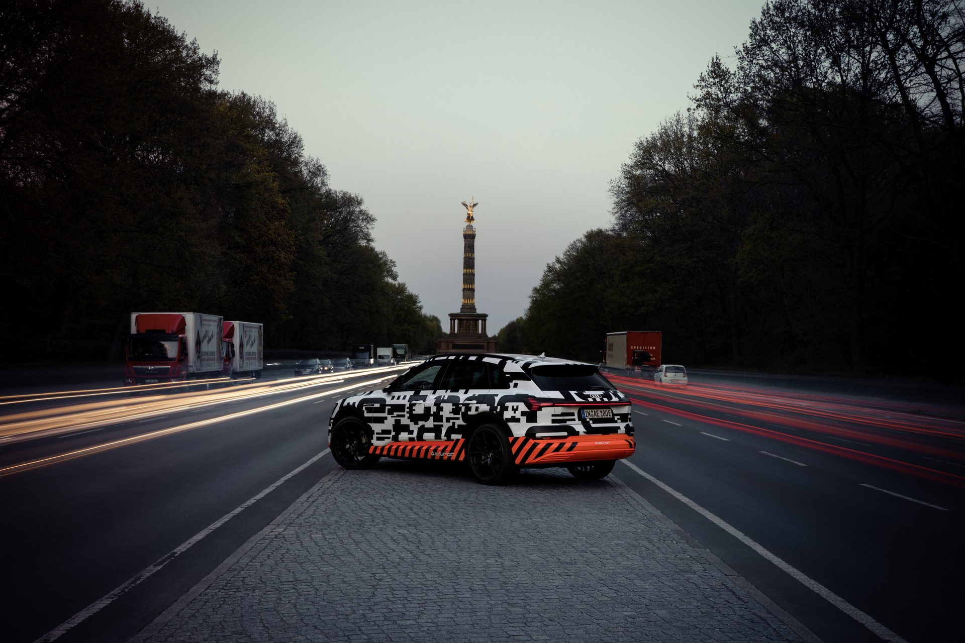 Audi e-tron prototype driving in Berlin