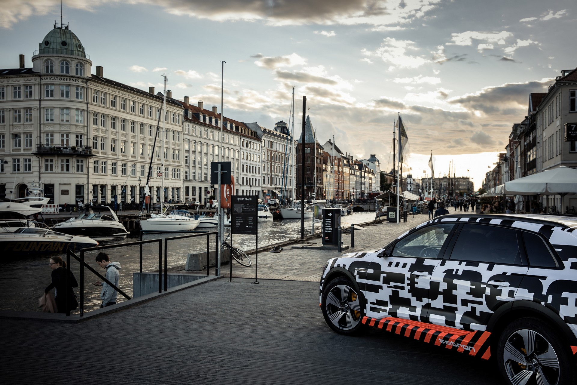 The Audi e-tron prototype in Copenhagen